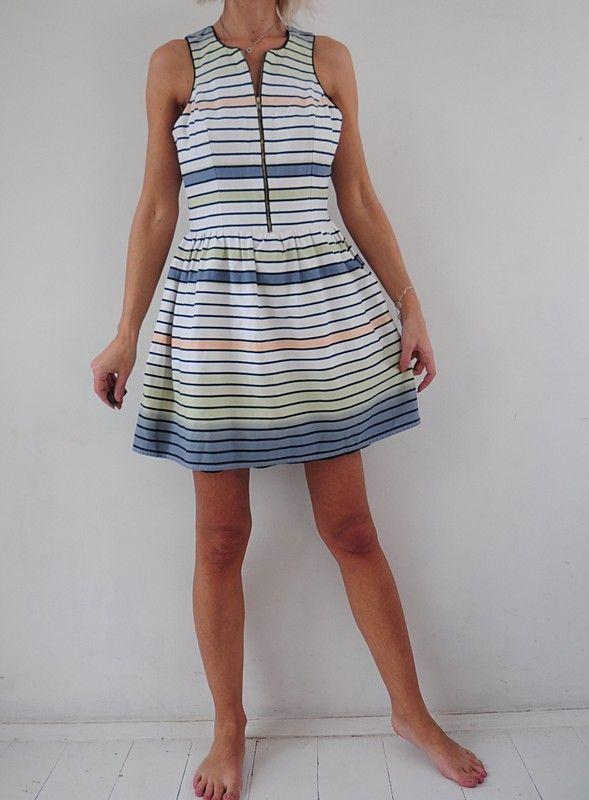 6389873f08 Atmosphere sukienka biała pastelowe paski 40   42 - vinted.pl ...