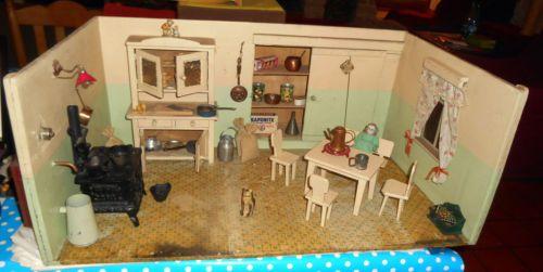 grande cuisine allemande debut 1900 avec accessoires meubles poupee meubles de poup es anciens. Black Bedroom Furniture Sets. Home Design Ideas