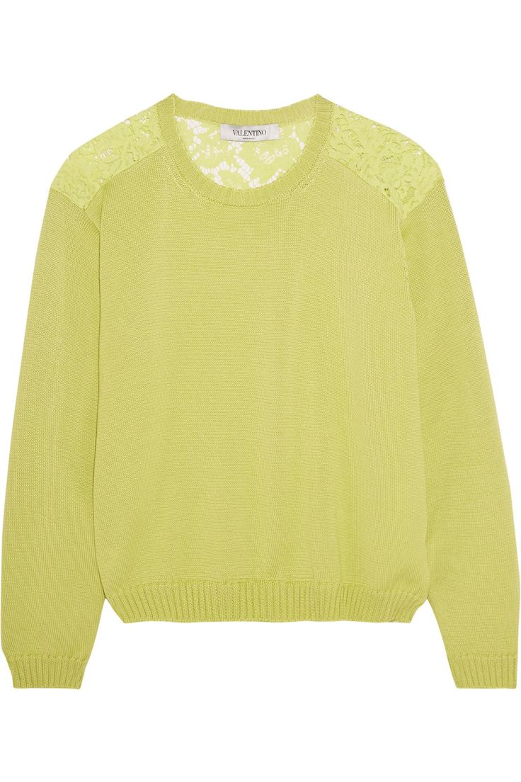 Shop on-sale Valentino Cotton and corded lace sweater . Browse other discount designer Tops & more on The Most Fashionable Fashion Outlet, THE OUTNET.COM