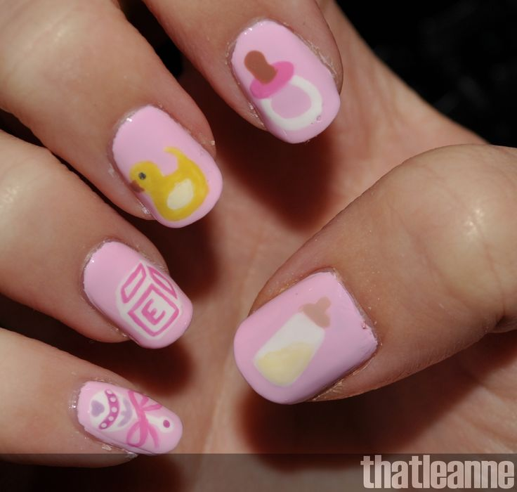 Might do this for a friend's baby shower next month! - 17 Best Images About NAIL ART :) On Pinterest Baby Shower Themes