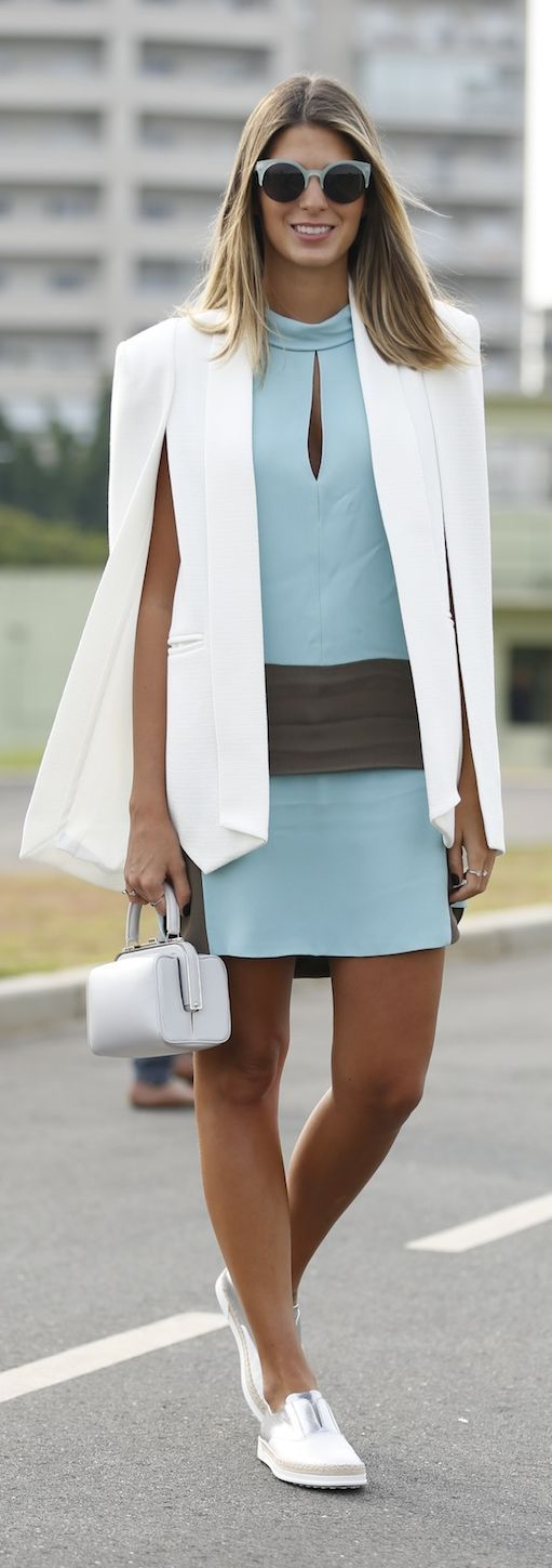 Mint And White Sporty Chic Style #Fashionistas