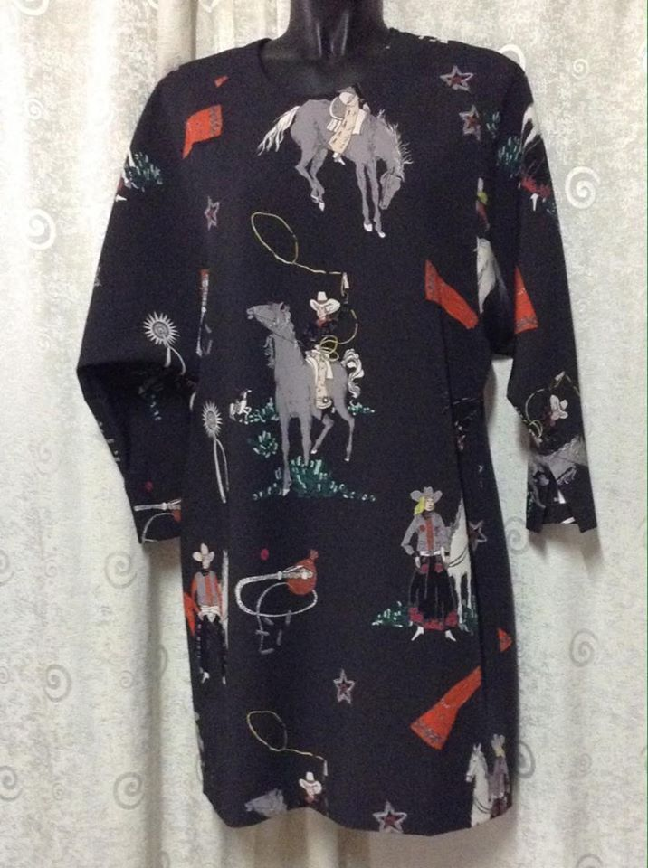 Fabulous Bimba Y Lola Dress, NWT, Buffalo Bill, Cowboy, Spain #BimbaYLola #DolmanSleeveMini