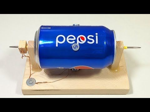 Как сделать электродвигатель из алюминиевой банки своими руками? - YouTube