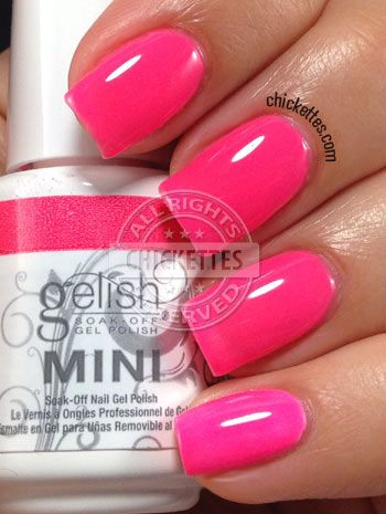 Chickettes.com Gelish Pacific Sunset from the Gelish Colors of Paradise Collection #Gelish #gelpolish