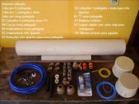 Filtro canister caseiro