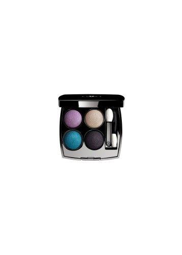 Per la nuova collezione primavera 2016 , la Chanel crea, con uno sguardo nel blu , les 4 ombres Tissé Beverly Hills composto dal blu, verde, rosa e viola.