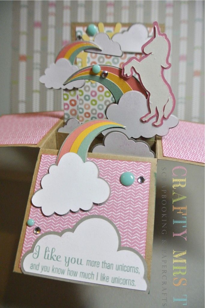 Unicorn Dreams Pop Up Box Card | Close To My Heart ~ Cards ...
