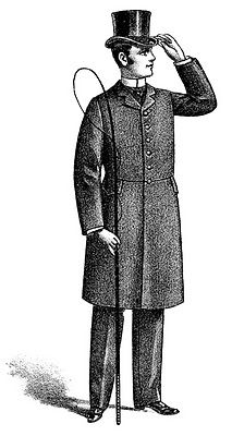 Vintage Clip Art - Man with Top Hat - The Graphics Fairy