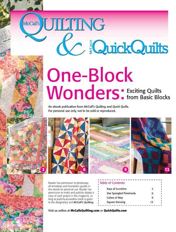242 best Free Quilt Patterns & Projects images on Pinterest ... : mccalls quilt blocks - Adamdwight.com