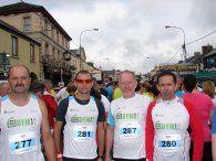 Tomasz Manikowski, Marek Gieruszyński, Mariusz Bachorski, Andrzej Gruszel w czasie Maratonu Longford