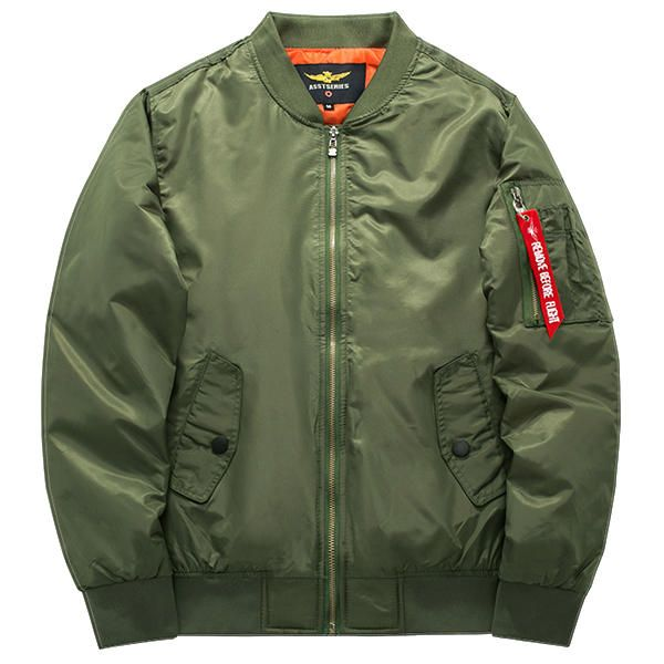 Plus Size XS-6XL Bomber Jacket Fashion Casual Flight Jacket at Banggood