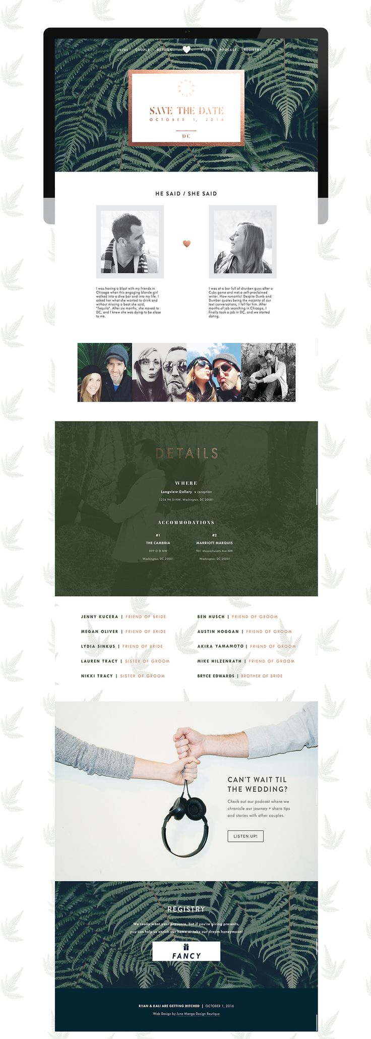 Woodland wedding website /// web design                                                                                                                                                                                 More