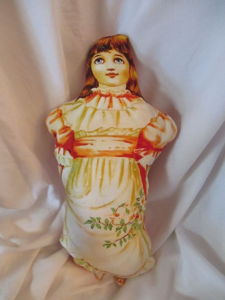 Handmade Victorian Stuffed Doll by BluberryHillBoutique on Etsy