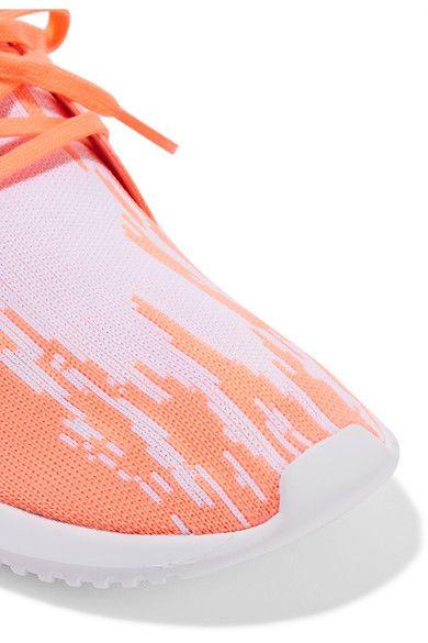 adidas Originals - Tubular Defiant Primeknit, Neoprene And Felt Sneakers - Coral - US