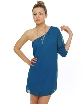 C'mon Get Happy One Shoulder Sapphire Blue Dress: Dream Closet, Dresses Long Short Wedding, One Shoulder, 27 Dresses, Fashion Beauty, Shoulder Dresses, Casual Dresses, Fashion Hair Makeup Clothing, Fashionista Inside