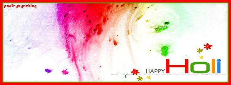 Happy Holi Facebook Timeline Wishing Holi FB Cover Image