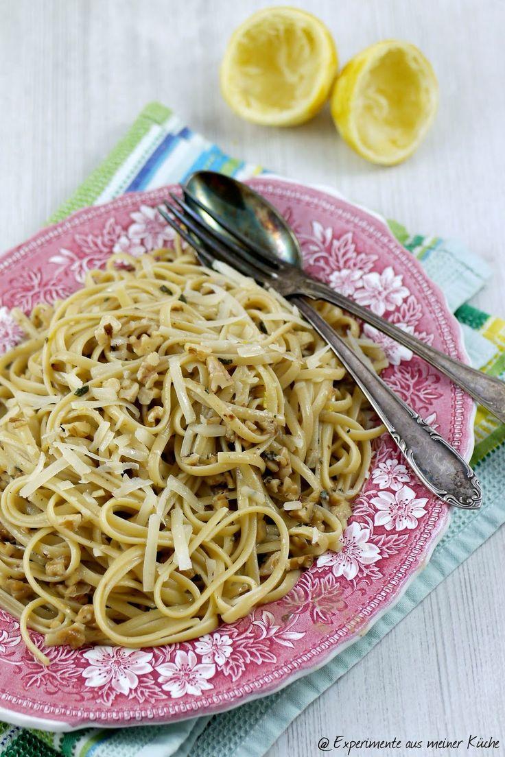 Linguine mit Salbei-Walnuss-Butter #veg