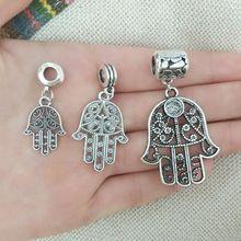 Kolye kefalet bağlayıcı bilezik charms tibet boncuk kolye bulguları hamsa el tüp paspayı atlama ringsdiy takı yapma el sanatları(China (Mainland))