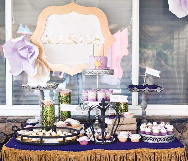 Una mesa para una fiesta princesa, inspirada en la película Enredada / A Tangle-inspired princess table