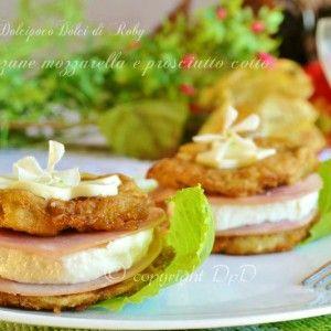 Melanzane fritte ripiene !! Sono hamburger mozzarella e prosciutto cotto gustosissimi, facili e veloci!!! Una ricetta considerata anche da riciclo per smaltire delle melanzane impanate !! Piacciono tantissimo anche ai bambini!! QUI la Ricetta: http://blog.giallozafferano.it/dolcipocodolci/melanzane-mozzarella-prosciutto-cotto/
