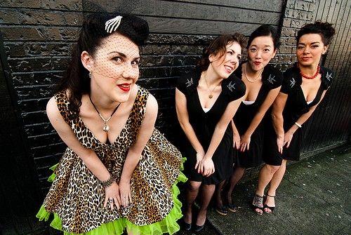 I am loving her wedding dress! Leopard and lime? Um... YES!