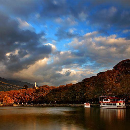 Lake Ioannina in Greece