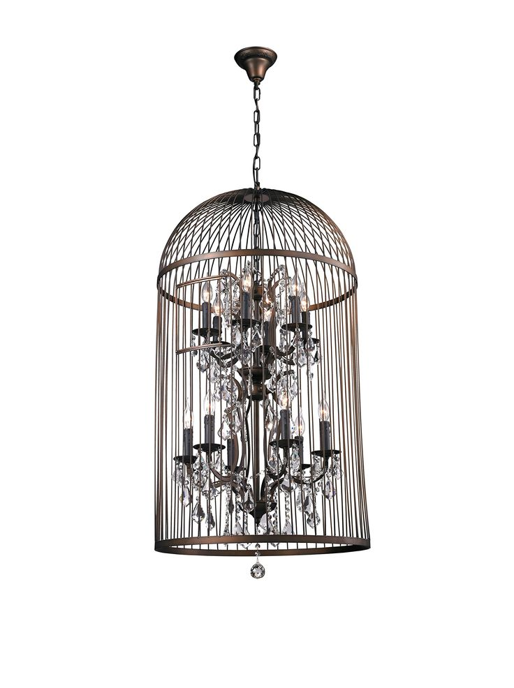 CDI Furniture Large Bird Cage Chandelier, Rust at MYHABIT