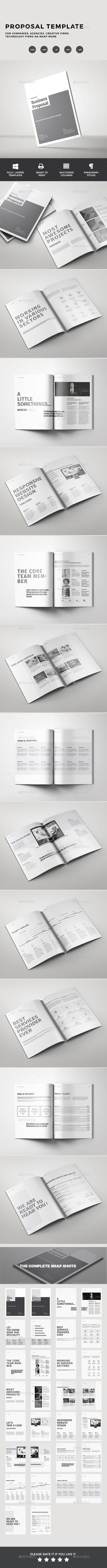 523 Best Proposal Brochure Templates Images On Pinterest Invoice