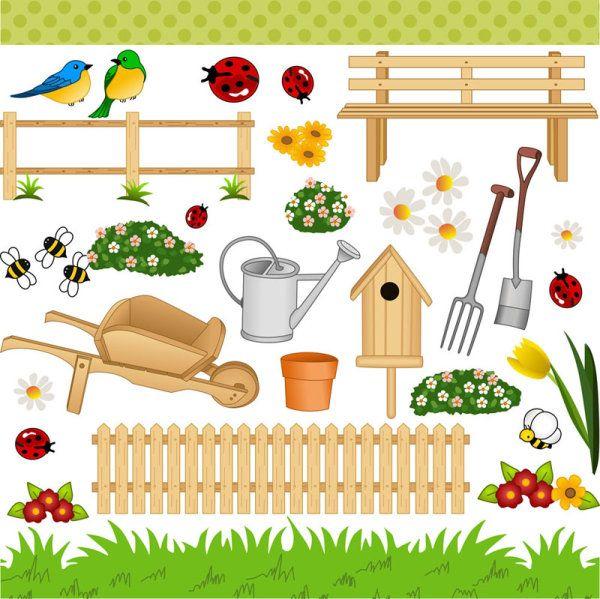 Palabras clave: cartoon, jardinería, arte, flores, una pala ...