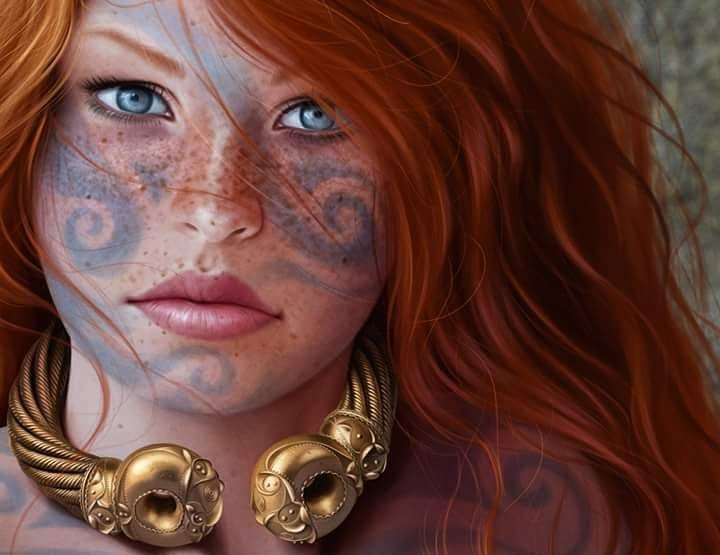 @jfoliveras Still working on this Celtic queen  Still working on this Celtic queen #art #artist #digitalart #digitalpainting #illustration #workinpr - jfoliveras