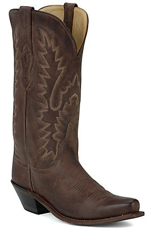 Old West Ladies Classic Chocolate Mad Dog Snip Toe Western Boot. I have these in tan and they are so comfy!