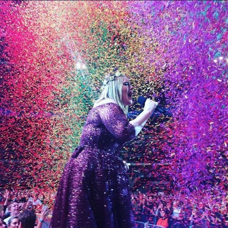 Adele performing at Wembley Stadium June 29th #Adele #Wembley #Stadium #Slayed