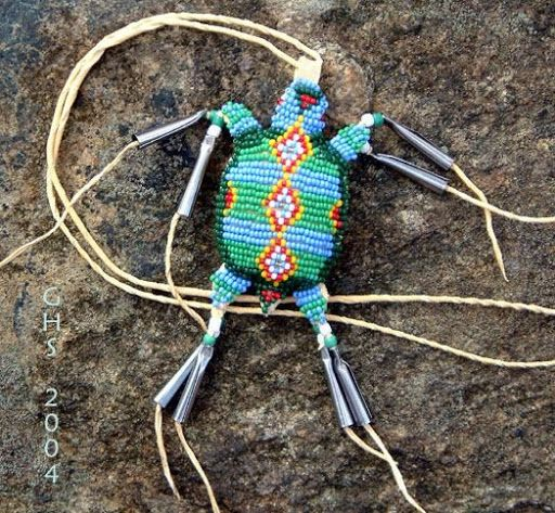 Native American turtle Tribal Beading Patterns | turtle natal amulet sold turtle natal amulet sold turtle natal