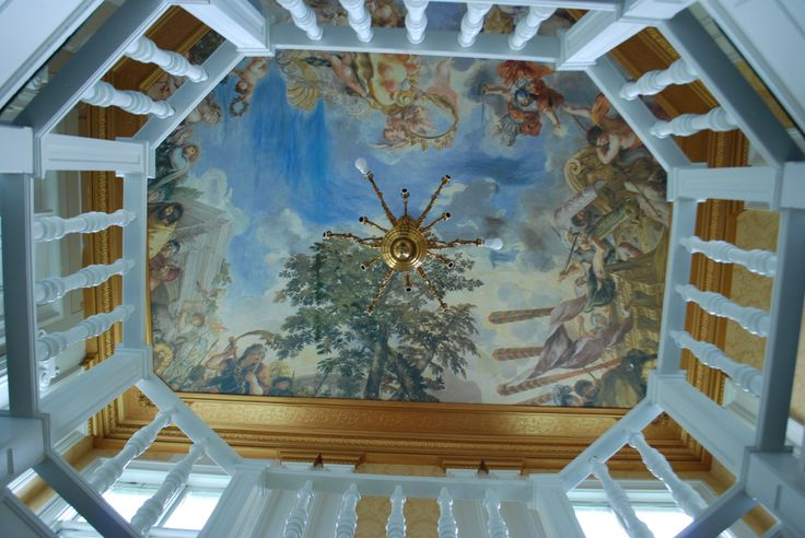 Ceiling painting in hallway