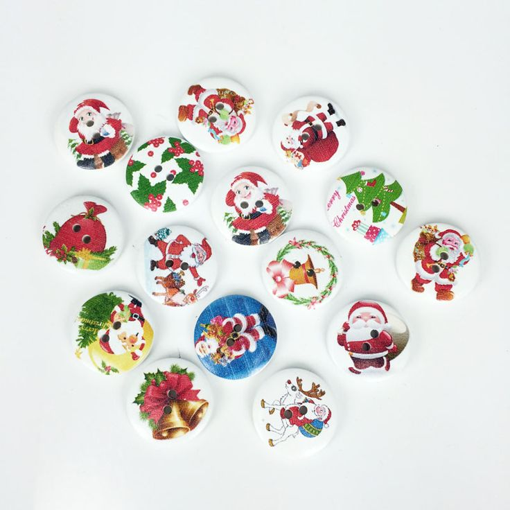 Cheap craft silk, Buy Quality button kit directly from China craft frog Suppliers: 50Pcs Christmas Fashion Fancy Bulk Mixed Wood Button Sewing Accessories Decorative Buttons Handmade Scrapbooking Craft