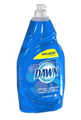 Original, blue Dawn dish liquid does some amazing things...like giant bubbles; removes