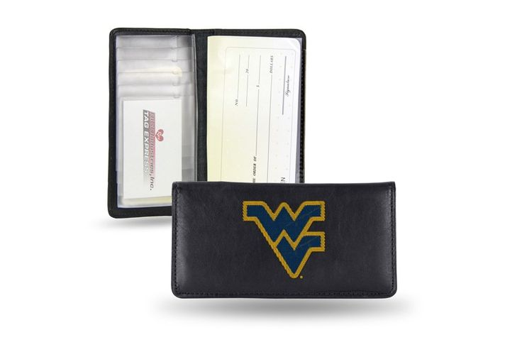 Vintage Leather Look Jeremiah Verse Bible Book Cover Large: West Virginia WVU Mountaineers Team Embroidered Leather