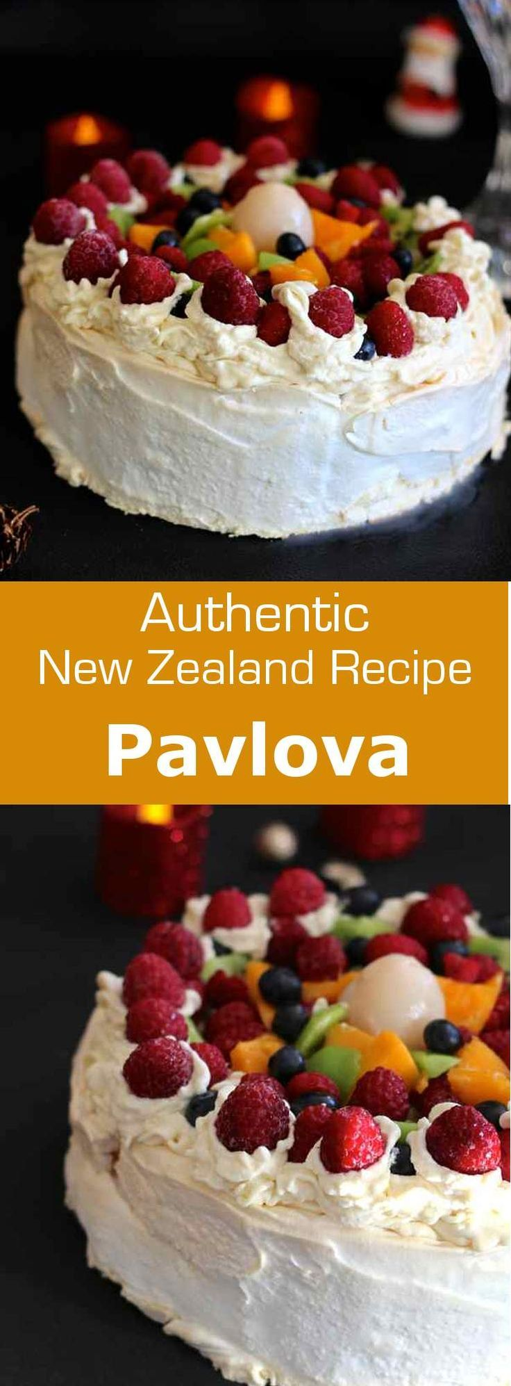 Pavlova is the emblematic dessert from New Zealand named after Russian ballerina Anna Pavlova, with meringue and topped with fresh fruits. #Christmas #dessert #NewZealand #Australia #196flavors (scheduled via http://www.tailwindapp.com?utm_source=pinterest&utm_medium=twpin&utm_content=post81646515&utm_campaign=scheduler_attribution)