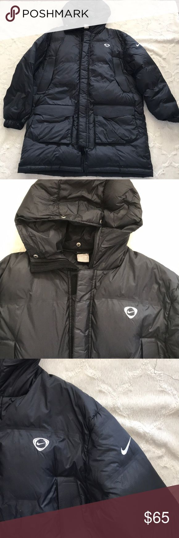 Men's Nike winter jacket Men's Nike winter coat.. great condition! Long! Size XL! Like a Parka. Extremely warm! My husband has worn it only a few times. Nike Jackets & Coats