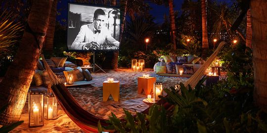 The Miami Beach Edition Hotel | Sandbox | Secluded Outdoor Cinema ♡