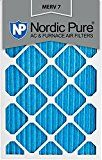 Nordic Pure 16x20x1M7-6 MERV 7 Pleated AC Furnace Air Filter 16x20x1 Box of 6