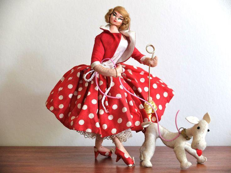 """Ancienne poupée LAYNA made in Spain """"La Parisienne"""" vintage doll années 50 1950"""