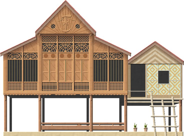 Traditional House Architecture malay traditional househerbertrocha.deviantart on