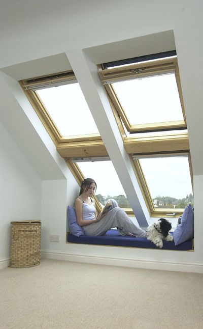 Roof window. Perfect for our attic
