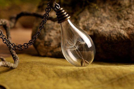 Make a wish Dandelion necklace dandelion seeds door SomeMagic