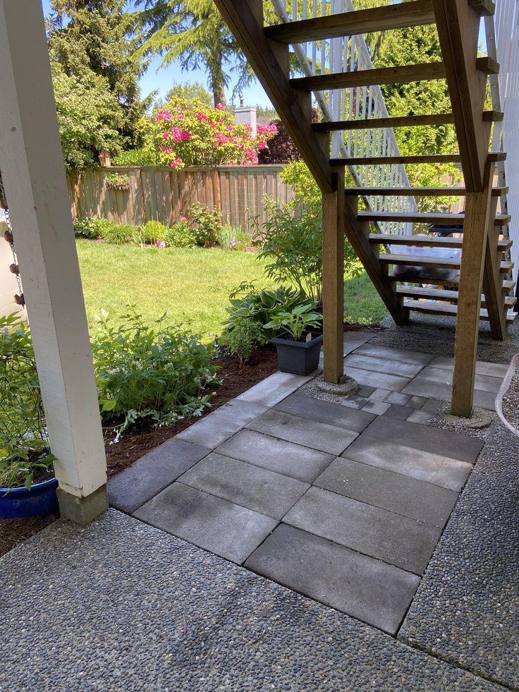 Expanded patio in 2020 Concrete pavers, Patio, Back patio