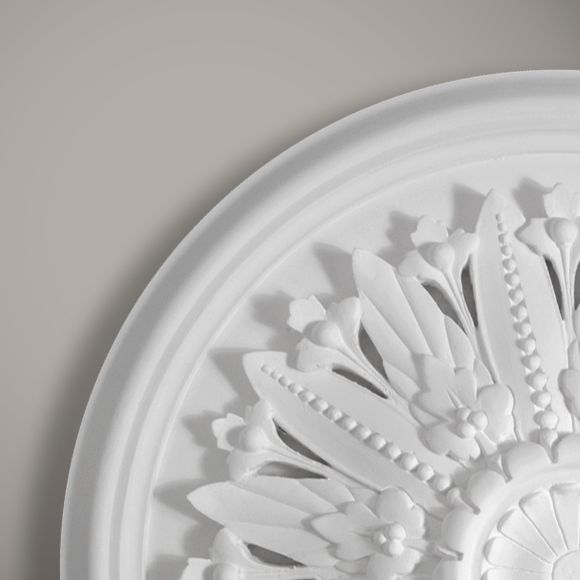 The Cambridge plaster ceiling rose is Victorian in style although it would work well on any ceiling to add interest and character.  This elegant rose can be cast with or without the vent cut out detail.  Suitable for mid-sized to larger rooms.  Dimension:-  Diameter:-750mm  Depth:-80mm