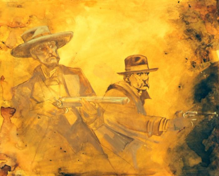 """""""Doc and Wyatt - Brothers In Arms"""" by Bob Boze Bell"""