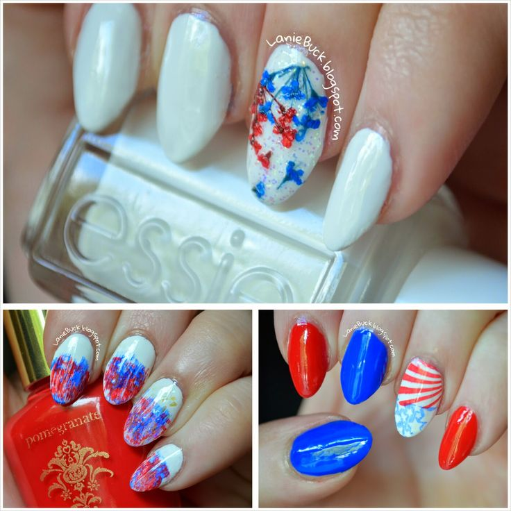 Lanie Buck: 3 Fourth of July Nail Designs with Video