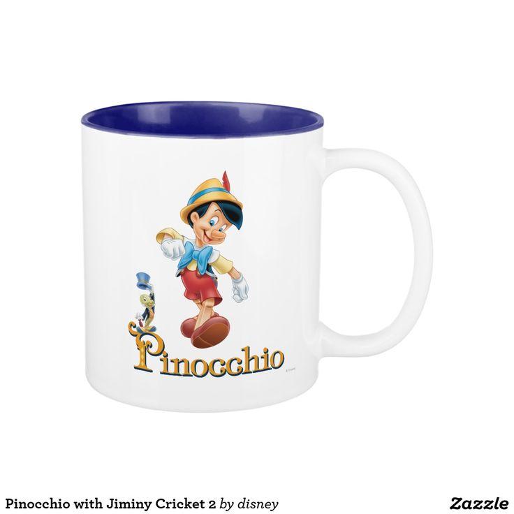 Pinocchio with Jiminy Cricket 2. Regalos, Gifts. #taza #mug